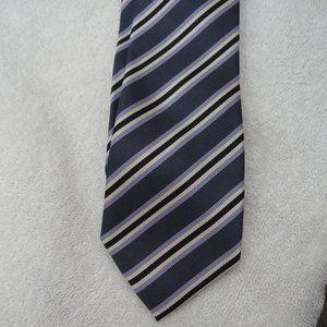 Colours Tie Striped Necktie Purple White Black